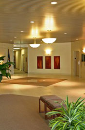 Our staff takes great pride in cleaning and polishing  our customers' lobby floors , and we get lots of compliments!